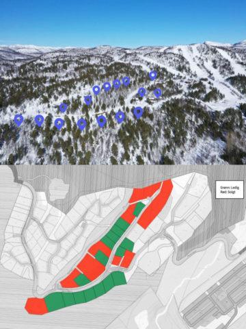 16 hyttetomter ved alpinanlegg og klatrepark - ski inn/ski out - Tomteareal fra 798 til 3300 kvm.